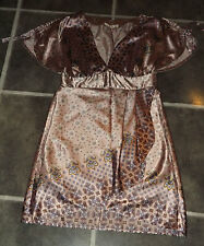 """LADIES CHEST 30"""" SHINY LILAC FLORAL SHIFT PARTY COCKTAIL WRAP BOTTOM STYLE DRESS"""