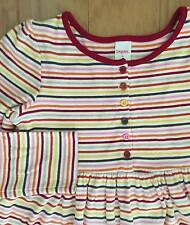 EUC GIRL GYMBOREE PURRFECT AUTUMN FALL STRIPED PLAY DAY DRESS OUTFIT 9