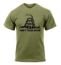 Rothco Snake Don't Tread On Me Vintage US T-Shirt shirt OD Green oliv M / Medium