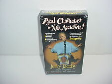 Real Character is No Accident Jerry Jacoby VHS Video Tape Movie New