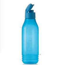 Tupperware Triangular Water Bottle Eco Coll. Tumbler ~F lip Top Seal ~ Blue ~New