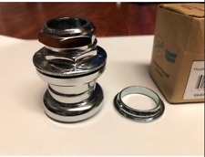 "HARO BMX 1 INCH VINTAGE THREADED HEADSET 1"" CHROME UNSEALED TIOGA BIKE RETRO"