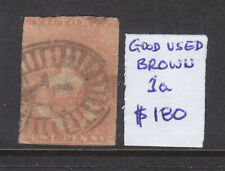 Victoria: Qv Half Length 1d Brown Used Asc 1a