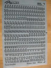 1 x zipatone comme Letraset schmalkraftige Digi-Grotesk 4 mm Ziffern numéros,