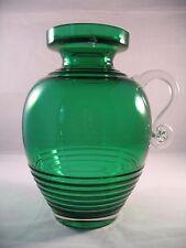 Riihimaen Lasi Riihimaki 1509 Cleopatra verde vaso di cristallo con etichetta
