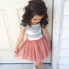 bimbo bambino ragazze FIORE vestito da principessa festa matrimonio tulle tutu