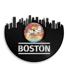 Boston Vinyl Wall Art City Skyline Retro Ideal for Home Decor Decorative Vintage