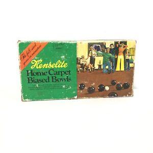 Henselite Home Carpet Biased Bowls Junior Australia Complete  #417