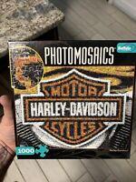 Photomosaics Harley Davidson Motorcycles 1000 Piece Puzzle *Complete*