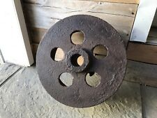 Vintage Antique Industrial Metal Gear Mill Factory Steampunk Wheel