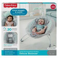 Fisher-Price Sweet Surroundings Monkey Deluxe Bouncer