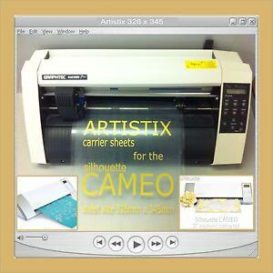 2 Carrier Sheet Craft Robo Graphtec Silhouette Cameo Tack Sheet Crafting Plotter