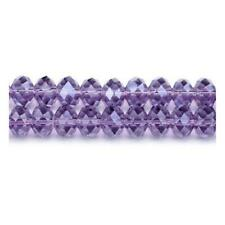 Violet Czech Crystal Glass Faceted Rondelle Beads 9 x 12mm 70+  Pcs Art Hobby