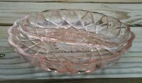 Pink Depression Glass Divided Candy/ Relish Dish