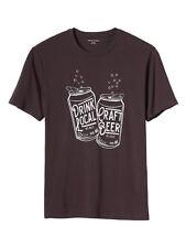 3251-3 Banana Republic Mens Birch Red Beer Print Short Sleeve T-Shirt X-Large XL