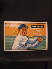 1951 BOWMAN HANK MAJESKI #12 CHICAGO WHITE SOX BASEBALL CARD - UNGRADED - EXC!