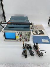 Vintage Tektronix Model 442 Oscilloscope With Probes Accessories Read Desc