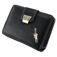 Damen-Geldbörsen & -Etuis mit umlaufendem Reißverschluss Bifold aus Leder