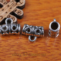 50pcs Charms Tibet Silver Connector Bails Fit Pandent DIY Jewery Making A7294