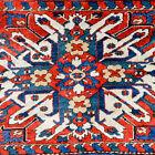 AN EXTRORDINARY ANTIQUE ARMENIAN CHELABERD EAGLE KAZAK CAUCASIAN RUG - FULL PILE
