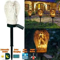 LED Garden Angel Statue Light Waterproof Solar Lamp Yard Lawn Outdoor Decor R0S7