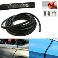 Black Car Rubber Seal Trim Molding Strip Door Edge Lock Protector Weatherstrip*1