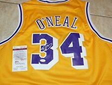 SHAQ SHAQUILLE O'NEAL signed LA LAKERS Gold Jersey + JSA Witness COA WP307483