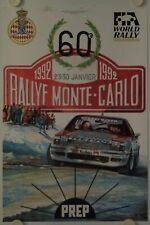 Affiche 60e RALLEY MONTE CARLO 1992 illustr. BERENGUIER
