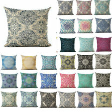 Vintage Boho Pattern Cotton Linen Sofa Cushion Cover Decor 18inch Pillow Case