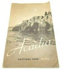 Vintage Maine Guide  Arcadia National Park 1938