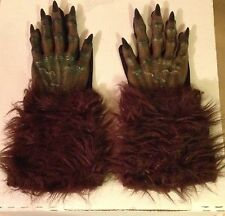 New Pair Of Werewolf Gloves Costume Accessory Halloween Haunt Horror Wolf Man