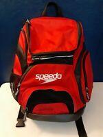 "Speedo Large Teamster Backpack 35l Red Swim Bag 20"" x 17"" x 8"""