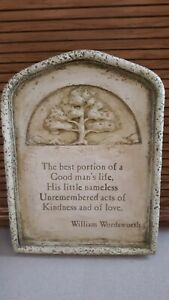 """""""Hen Feathers"""" Wordsworth Inspirational Plaque. #650113451. 8""""wide, 10-1/2"""" tall"""