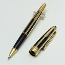 Luxury MB 163 Rollerball Pen Gold Black Stripes With Serial Number For Business