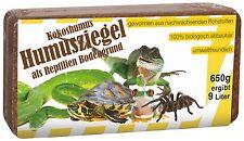 Reptilien Bodengrund Terrarium Einstreu Terrarien Kokoshumus Humusziegel  24 St.