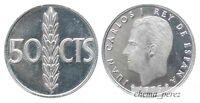 // Lote 2 monedas de 50 centimos peseta 1975 *76 REY SC \