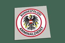 Aufkleber POLIZEI - Kriminaldienst - KRIPO Österreich...