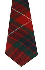 Mens Fraser Red Modern Tartan 100% Lambswool Scottish Tie