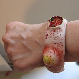Zombie rotting flesh bracelet bangle hand made Horror Goth Halloween
