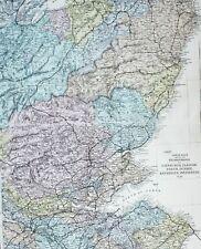 1883 LARGE MAP SCOTLAND NEIGHBOURHOODS OF EDINBURGH GLASGOW PERTH DUNDEE FORFAR