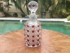 Antique French Crystal Ruby Gold & Clear Perfume Bottle, gl159