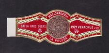 Ancienne  Bague  de Cigare  Cigar Labels  BN45109 La Prueba Veracruz