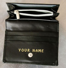 LADY'S PURSE. Personalised with any name you want. LEATHER. Black. Quality item.