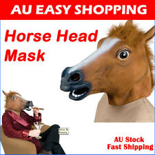 HORSE HEAD MASK REALISTIC Creepy COSTUME HALLOWEEN PARTY Prop Novelty Prank A
