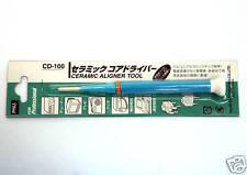 "1pc Goot Japan Ceramic Core Tune Rod Adjustment Screwdriver CD-100 2.6x0.4mm ""+"""