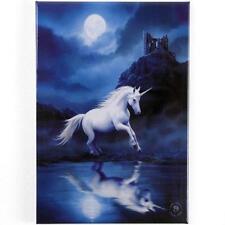 Moonlight Unicorn Fridge Magnet by Anne Stokes