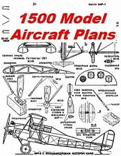 1500+ Model Airplane Plans Balsa Wood RC Aircraft on CD - FREE DELIVERY