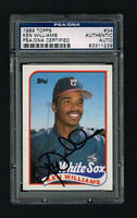 Ken Williams 1989 Topps Baseball Card #34 signed autograph auto PSA Slabbed