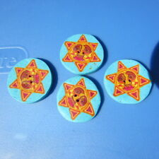 """Buttons Man in Moon Sun Star 1"""" Lot Set of 4 Gorgeous Soft"""