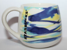 NEW Starbucks Espresso 3 oz Demi Cup Mug Spring Watercolor Blue Yellow Green